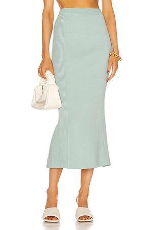 JONATHAN SIMKHAI Women Midi Skirts - Brooklynn Compact Knit Midi Skirt in Blue