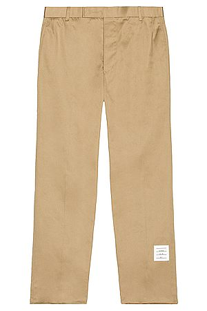 Thom Browne Unconstructed Chino Trouser in Beige
