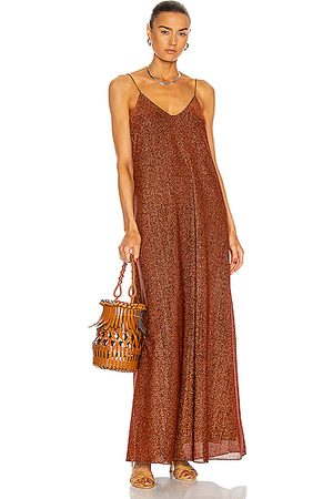Oseree Women Dresses - Lumiere Long Dress in Metallic Bronze