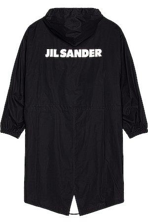 Jil Sander Men Parkas - Logo Parka in Navy