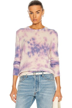 THE ELDER STATESMAN Glacier Tranquility Crew Sweater in Lavender