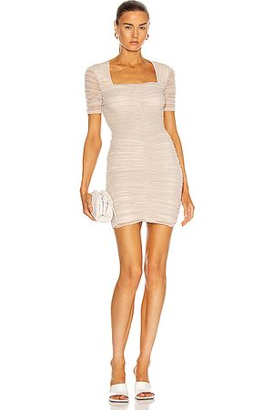 JONATHAN SIMKHAI STANDARD Tiffany Mini Dress in Metallic Neutral