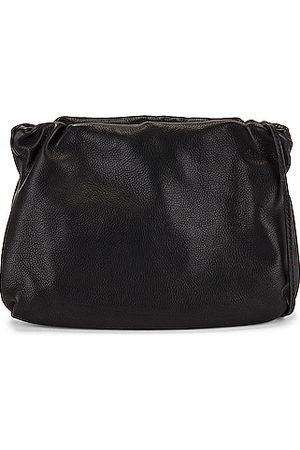 The Row Bourse Grain Leather Clutch in