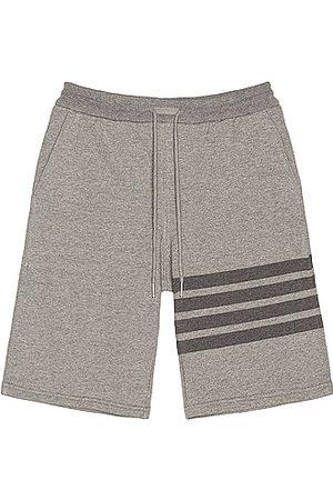 Thom Browne Tonal 4 Bar Sweatshorts in Grey
