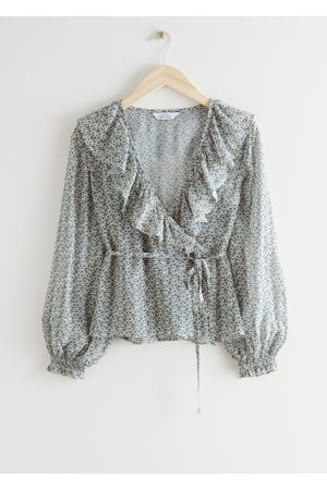 & OTHER STORIES Ruffle Neck Wrap Blouse