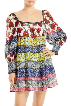 ALICE+OLIVIA Women Printed Dresses - Rowen Printed Tunic Dress