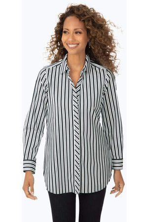 Foxcroft Women Tunics - Vera Stretch Non-Iron Stripe Tunic