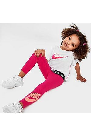 Nike Girls' Toddler Sportswear Leggings in /Fireberry Size 2 Toddler Cotton/Knit