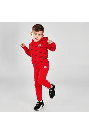 Nike Boys' Toddler AOP Pullover Hoodie and Jogger Pants Fleece Set in / Size 2 Toddler Fleece/Knit