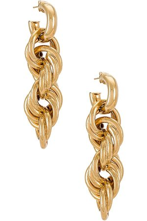 Martha Calvo Amina Earrings in Metallic .