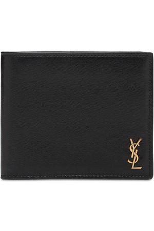 Saint Laurent Men Wallets - Tiny Monogram Leather Wallet