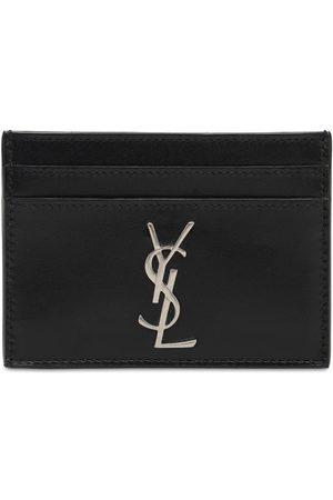 Saint Laurent Men Wallets - Monogram Leather Card Holder