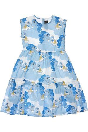 Mini Rodini Unicorn Print Organic Cotton Long Dress