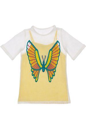 Stella McCartney Girls Dresses - 2-in-1 Mesh Dress W/ Butterfly Crochet