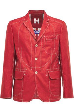 JUNYA WATANABE Men Blazers - Linen Blazer W/ Printed Lining
