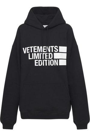 Vetements Big Logo Cotton Jersey Hoodie
