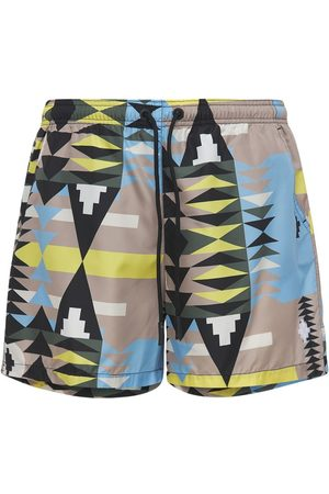 MARCELO BURLON All Over Print Tech Swim Shorts