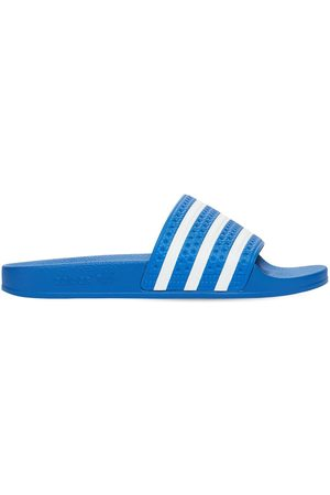 adidas Women Sandals - Adilette Striped Slide Sandals