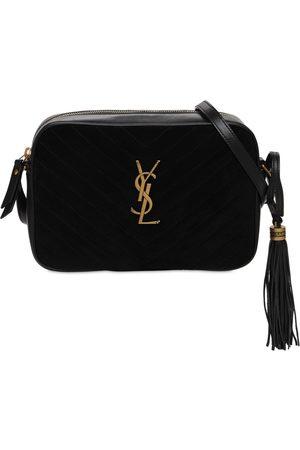 Saint Laurent Women Shoulder Bags - Lou Quilted Suede & Leather Camera Bag