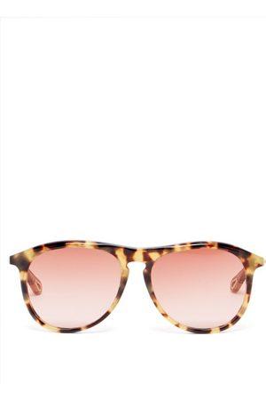 Chloé Esther Aviator Acetate Sunglasses - Womens - Tortoiseshell
