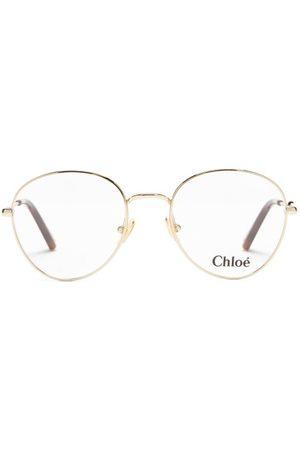Chloé Round Metal Glasses - Womens