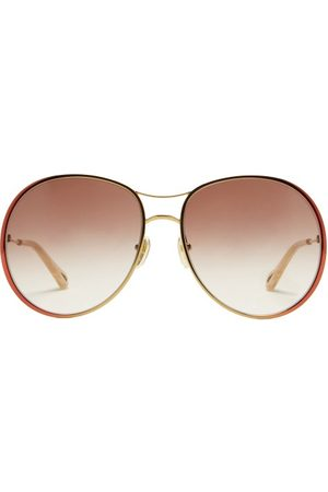 Chloé Women Aviators - Aviator Gradient-metal Sunglasses - Womens