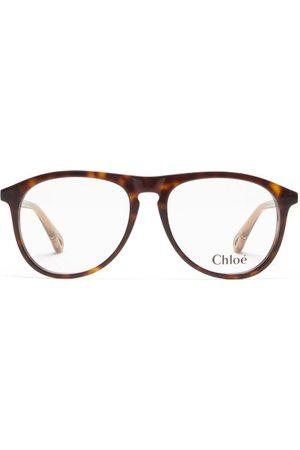 Chloé Women Aviators - Aviator Bio-acetate Glasses - Womens - Tortoiseshell