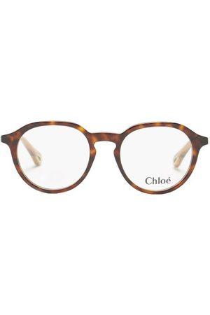 Chloé Women Round - Round Bio-acetate Glasses - Womens - Tortoiseshell