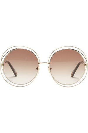 Chloé Women Round - Carlina Oversized Round Metal Sunglasses - Womens