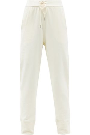 Jil Sander Women Sweatpants - High-waist Drawstring Cotton-jersey Track Pants - Womens - Ivory