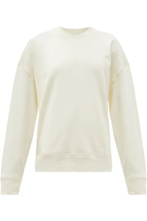 Jil Sander Logo-embroidered Cotton-jersey Sweatshirt - Womens - Ivory