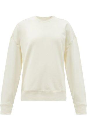 Jil Sander Women Sweats - Logo-embroidered Cotton-jersey Sweatshirt - Womens - Ivory