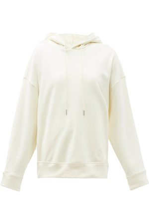 Jil Sander Dropped-shoulder Cotton-jersey Hooded Sweatshirt - Womens - Ivory