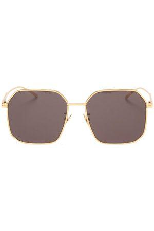 Bottega Veneta Square Metal Sunglasses - Mens