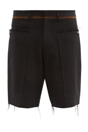 Bed J.W. Ford Raw-edge Cotton-blend Twill Shorts - Mens
