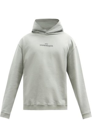 Maison Margiela Men Hoodies - Logo-embroidered Cotton-jersey Hooded Sweatshirt - Mens