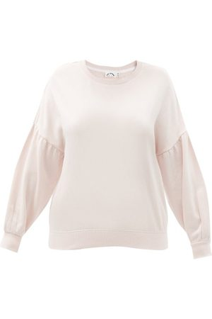 The Upside Women Sweatshirts - Bella Dropped-shoulder Cotton-jersey Sweatshirt - Womens - Light