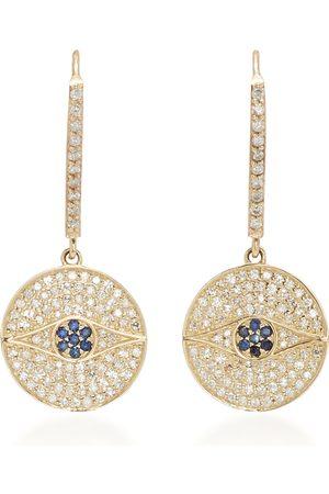 SHERYL LOWE Women Earrings - Women's 14K ; Diamond And Sapphire Earrings - - Moda Operandi