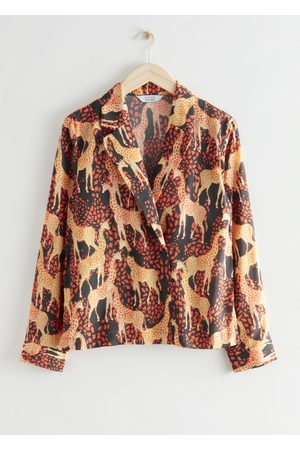 & OTHER STORIES Relaxed Giraffe Print Blouse