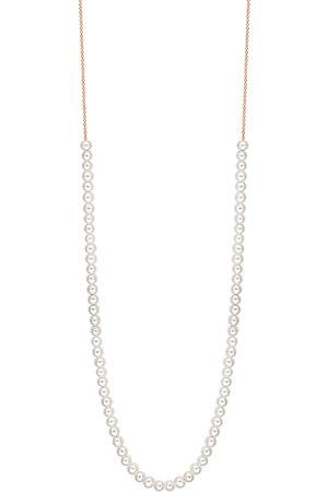 GINETTE NY Women's Mini Maria 18K Rose Gold Mother-Of-Pearl Necklace - - Moda Operandi