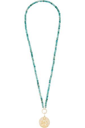 SHERYL LOWE Women's 14K ; Diamond And Grandideirite Necklace - - Moda Operandi