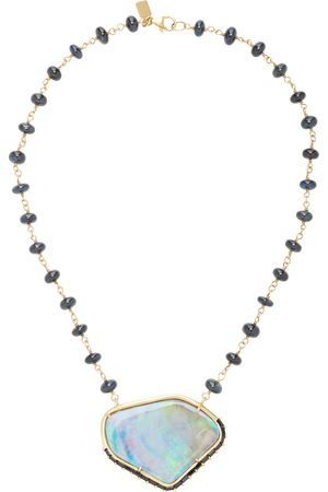 SHERYL LOWE Women's 14K ; Sapphire And Opal Necklace - - Moda Operandi