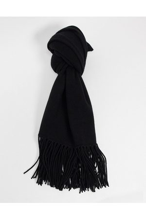 AllSaints Boiled wool scarf in