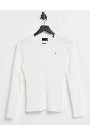 GANT Cable knit sweater in ecru