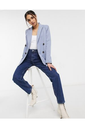 Ghospell Oversized coordinating double breasted blazer in blue-Blues