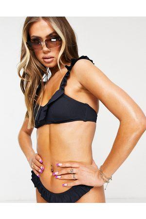 Dorina Kota light padded bikini rib top in navy