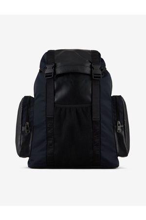 Armani Men Rucksacks - Backpack Navy Polyamide