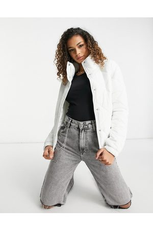 Brave Soul Slay diamond quilted puffer jacket in