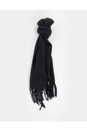 AllSaints Solid brushed blanket scarf in heather