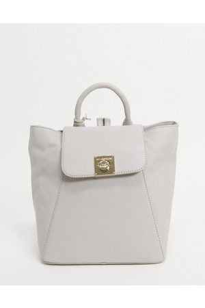 Paul Costelloe Leather backpack with turn lock in off